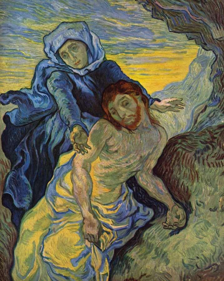 frases de Vincent van gogh la piedad Delacroix