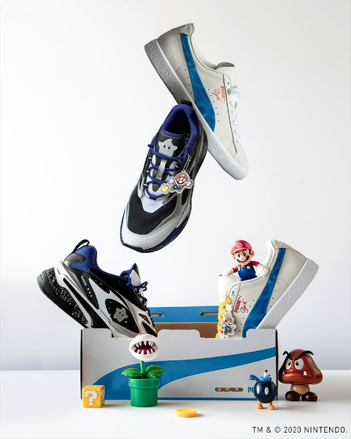 puma super Mario bros tenis sneakers Super Nintendo